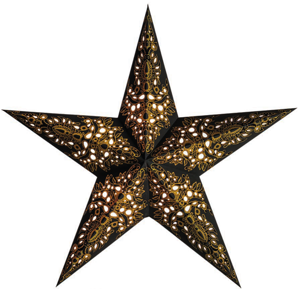 Bild von starlightz mono black/gold earth friendly Leuchtstern